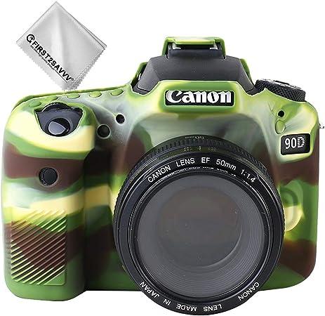 Verde Cuerpo Completo Caucho de TPU Funda Estuche Silicona para cámara para Canon EOS 90D: Amazon.es: Electrónica
