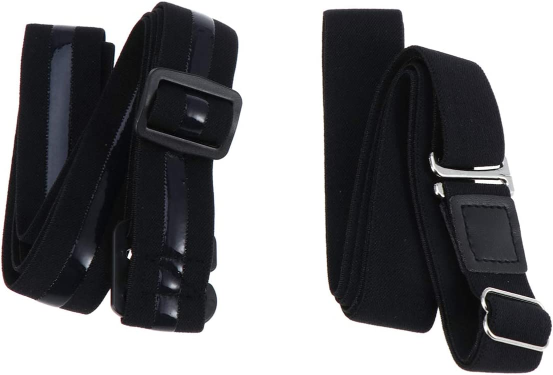SUPVOX 2 Piezas Ajustable Unisexo Liga de Camisa Correa de Bloqueo de Camisa Antideslizante Cinturón de Bloqueo Ropa Interior para Mujeres Hombres (Negro): Amazon.es: Deportes y aire libre