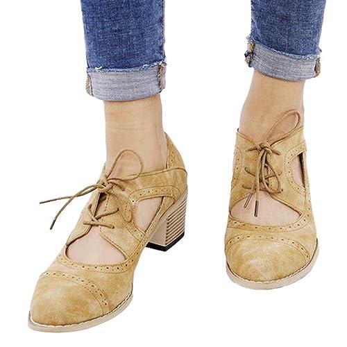 0acd0486 Zapatos de Tacón Medio Grueso para Mujer Primavera Verano 2019 PAOLIAN  Sandalias de Vestir Fiesta Elegantes