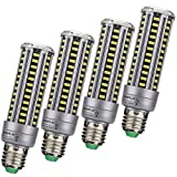 led 15w corn - LED Corn Light Bulb 15W 6000k Replacement for 120 Watt Bulb, Screw Socket E26 1360Lm Lamp Bulb LED Energy Saving Home Light Corn Bulb AC85~265V (Pack of 4)
