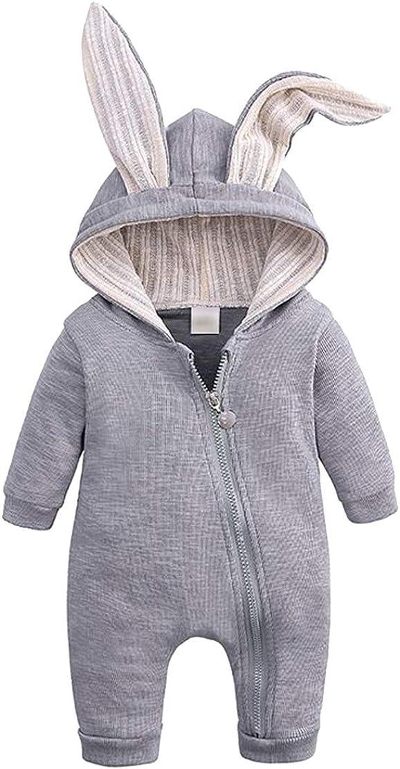 mama stadt S/äugling M/ädchen Junge Hase Gro/ßes Ohr Warm Spielanzug Kleider F/ür 0-18 Monate