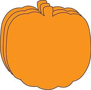 """product image for 5.5"""" Pumpkin Single-Color Creative Paper Cut-Outs, 31 Cut-Outs in a Pack for Fall and Thanksgiving Décor and Kids' Craft Projects for School/Classroom."""