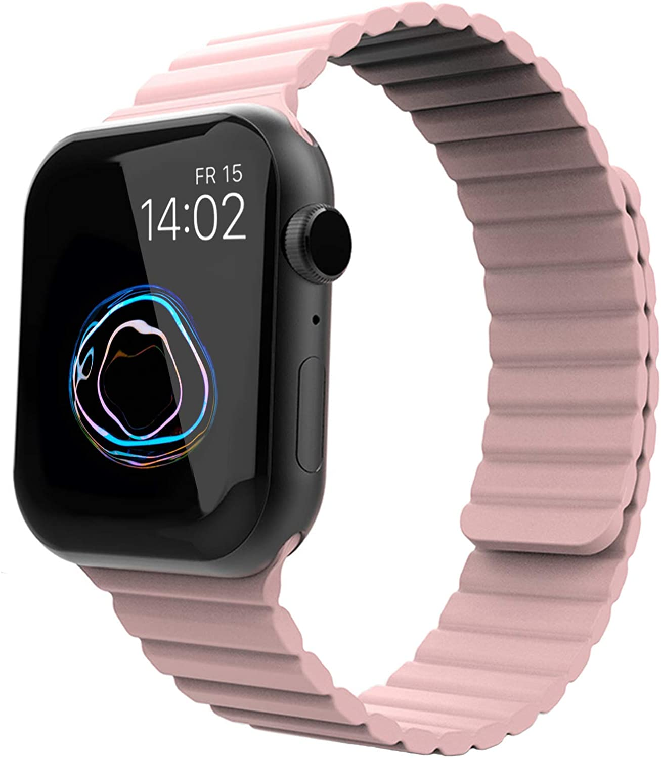 ALADRS Silicone Magnetic Closure Sport Loop Straps Compatible with Apple Watch Band, Adjustable Wristbands for iWatch Series 6 5 4, SE (44mm 40mm) Series 3 2 1 (42mm 38mm)