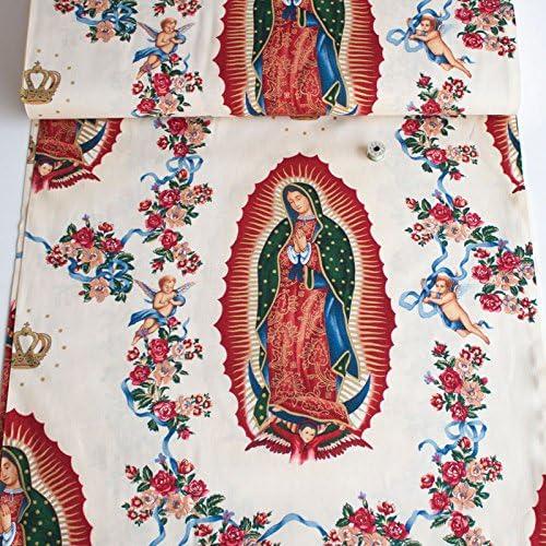 Alexander Henry Virgen de Guadalupe Natural Tela de coser (Precio por metro): Amazon.es: Hogar