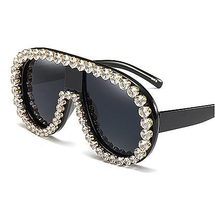 Peggy Gu Gafas de Sol Grandes de Cristal ovaladas de la ...