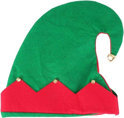 Amosfun Sombrero de Duende de Navidad Sombreros de Fiesta ...