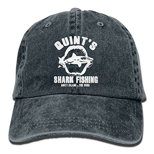 (Quint's Shark Fishing 2 Denim Hat Adjustable Unisex Tactical Baseball Hats)