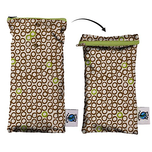 Planet Wise Wipe Pouch, Lime Cocoa Bean ()