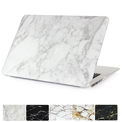 Amazon Com Macbook Air 13 Case Papyhall White Marble Pattern