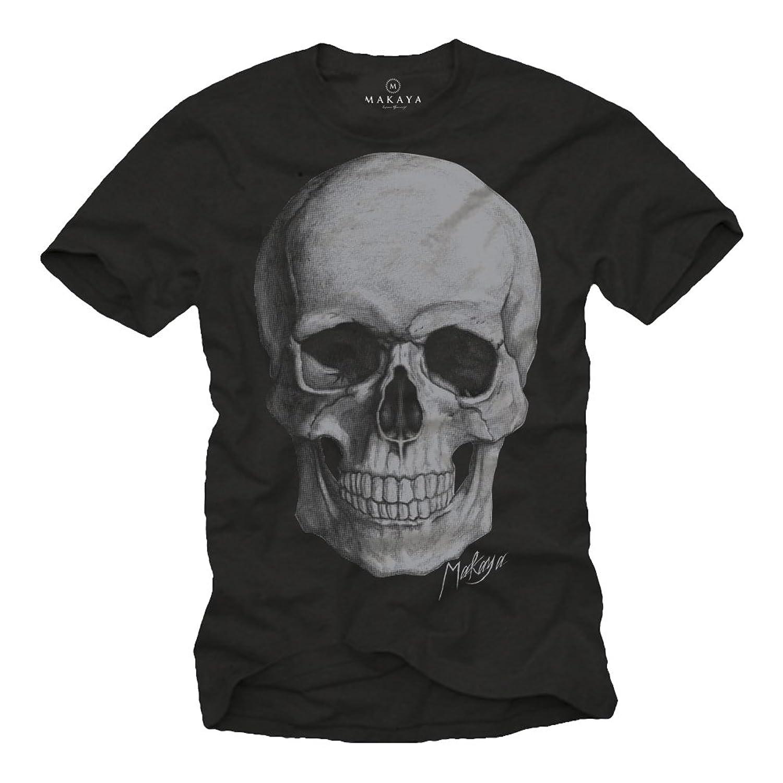 Black t shirt skull - Cool Biker T Shirt For Men Skull Black Size S Xxxl Amazon Co Uk Clothing