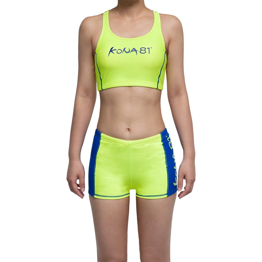 KONA81 Women's Triathlon Top & Shorts (Asian Fit) (Small) Neon Green