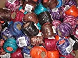 Free Ship Lot 20 Balls of Dark Shades Size 8 Perle/pearl Cotton Threads for Crochet, Hardanger, Cross Stitch, Needlepoint Hand Embroidery