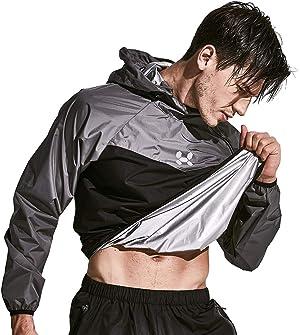 HOTSUIT Sauna Suit Men Weight Loss Jacket Pant Gym Workout Sweat Suits