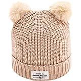 Gorras de bebé Amlaiworld Sombreros de bebé Niños niñas carta caliente sombreros de invierno de punto
