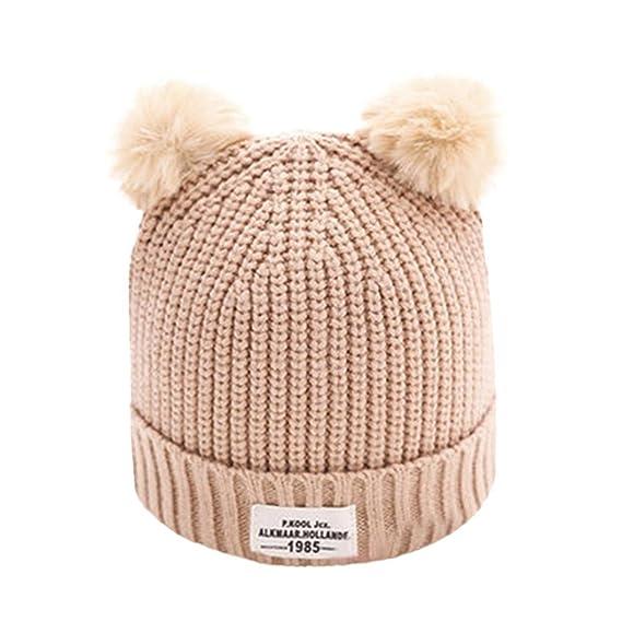 Gorras de bebé Amlaiworld Sombreros de bebé Niños niñas carta caliente  sombreros de invierno de punto a7d5f0d6c9d