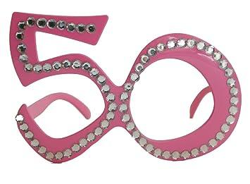 CREATIVE Gafas 50mo cumpleaños, aniversario, materia de diversión, Gagbrille