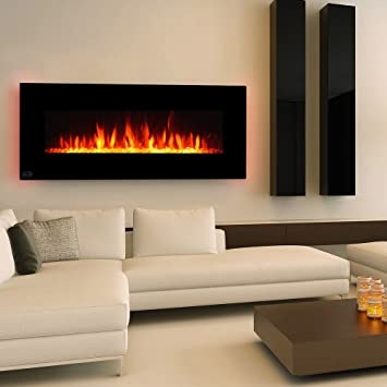 Amazon Com Clevr 48 Adjustable Electric Wall Mount Fireplace