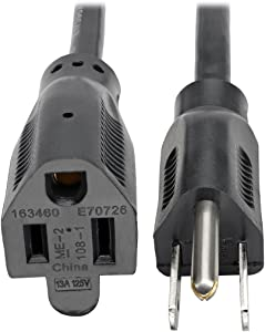 Tripp Lite Power Cord Extension Cable, 16 AWG, 5-15P to 5-15R, 13A, 25' (P024-025-13A)