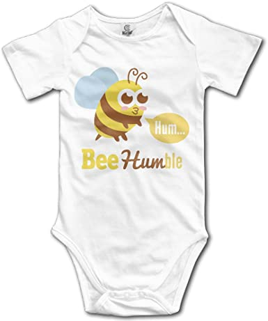 Cute Cartoon Animal On Bee Humble Infant 100/% Cotton Jumpsuits White