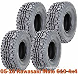 #4: Full Set ATV Tires 24x9-10 & 24x11-10 for 05-16 Kawasaki Mule 610 4x4