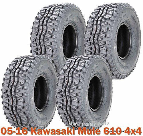 Full Set ATV Tires 24×9-10 & 24×11-10 for 05-16 Kawasaki Mule 610 4×4