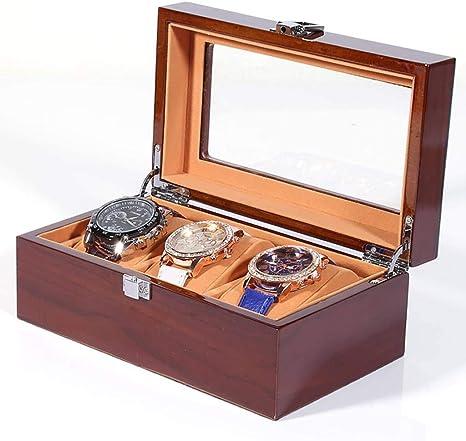 GOVD Caja para Guardar Relojes Madera Estuche relojero para Relojes, joyería, para Relojes 3: Amazon.es: Hogar