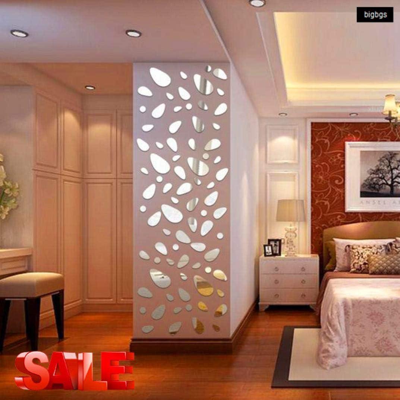24pcs 3D Circles Mirror Wall Sticker DIY Decal Vinyl Mural Home Decor Removable