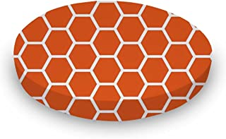product image for SheetWorld Round Crib Sheets - Burnt Orange Honeycomb - Made In USA