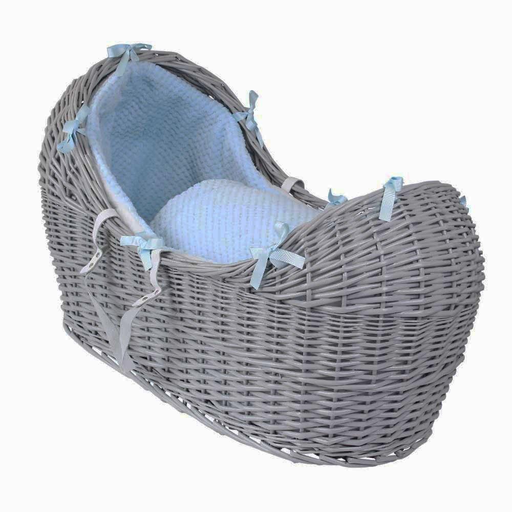 Dimple Bedding Grey//Blue Bedding iSafe Wicker Pod Grey