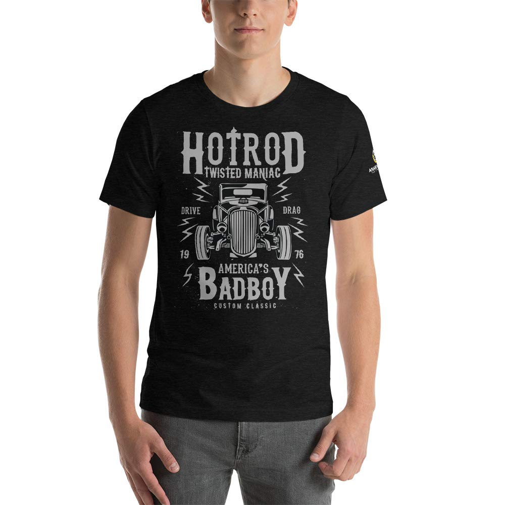 AnarchoCoffee Hotrod BadBoy Jersey T-Shirt Black Heather