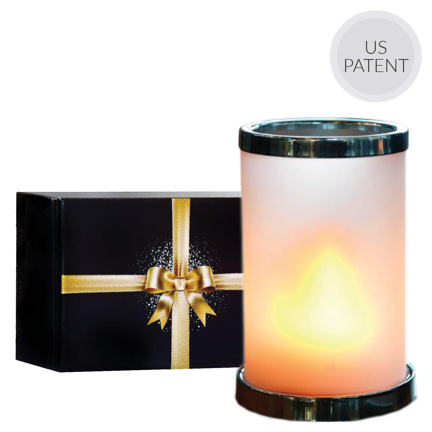Flame Light with Remote - Frosted Glass Shade Included | Rechargeable Battery Operated LED Candle Table Lamp with Timer | Outdoor Lighting for Home/Hotel/Restaurant/Bar/Party Decor | Ideal Gift