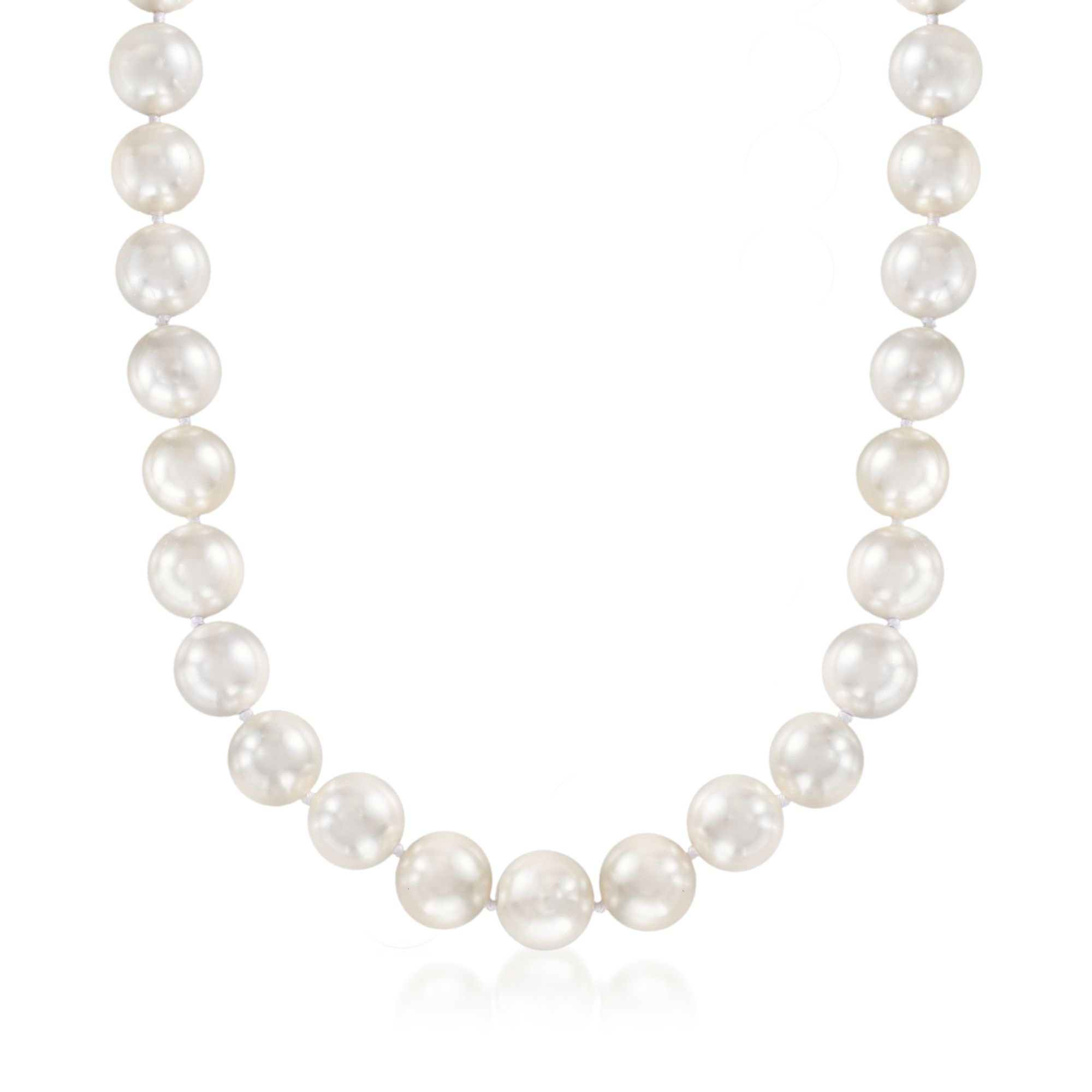 Ross-Simons 13.5-14mm Shell Pearl Necklace With Sterling Silver