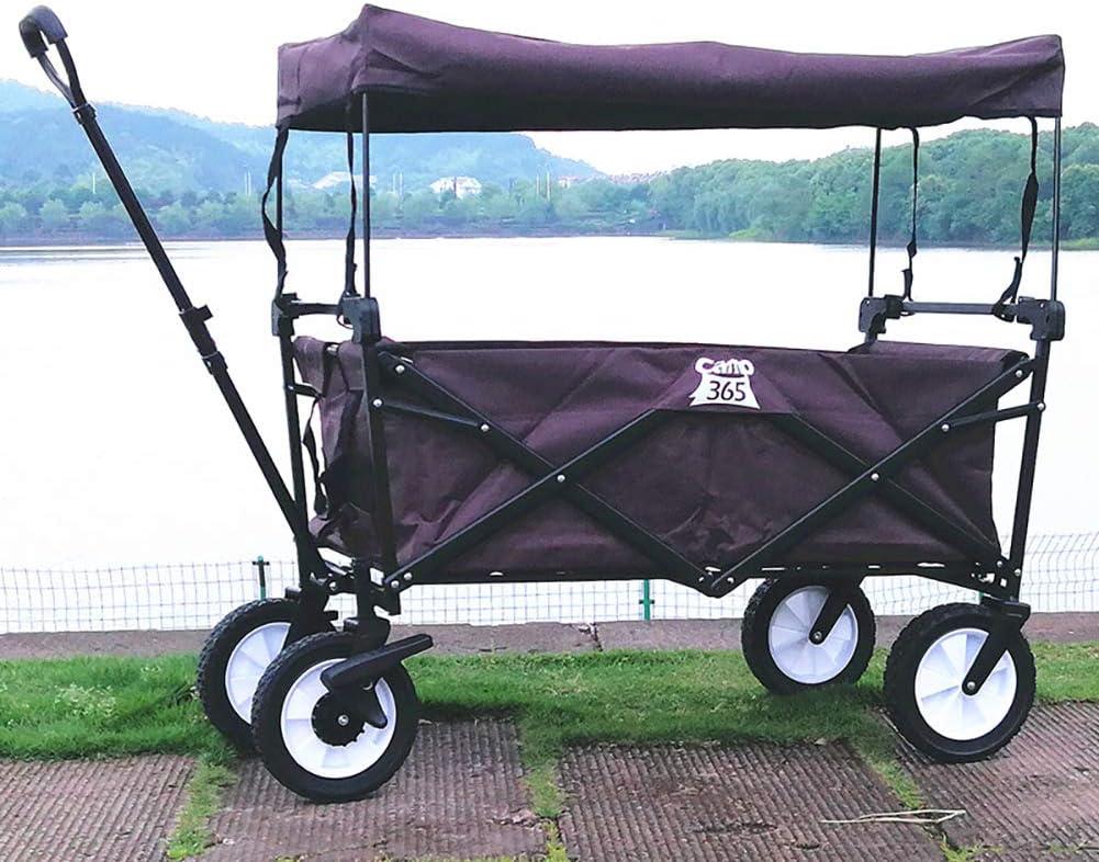 Chariot de toit avec toit Sac de refroidissement Chariot de plage pliable