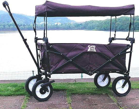 Acyon Carretillas de Carro Plegable Carrito transportador con Toldo de Protección Carga para Playa, Jardín,Máxima 80kg para Compras, Playa,Césped, Deportes,E:Purple: Amazon.es: Hogar