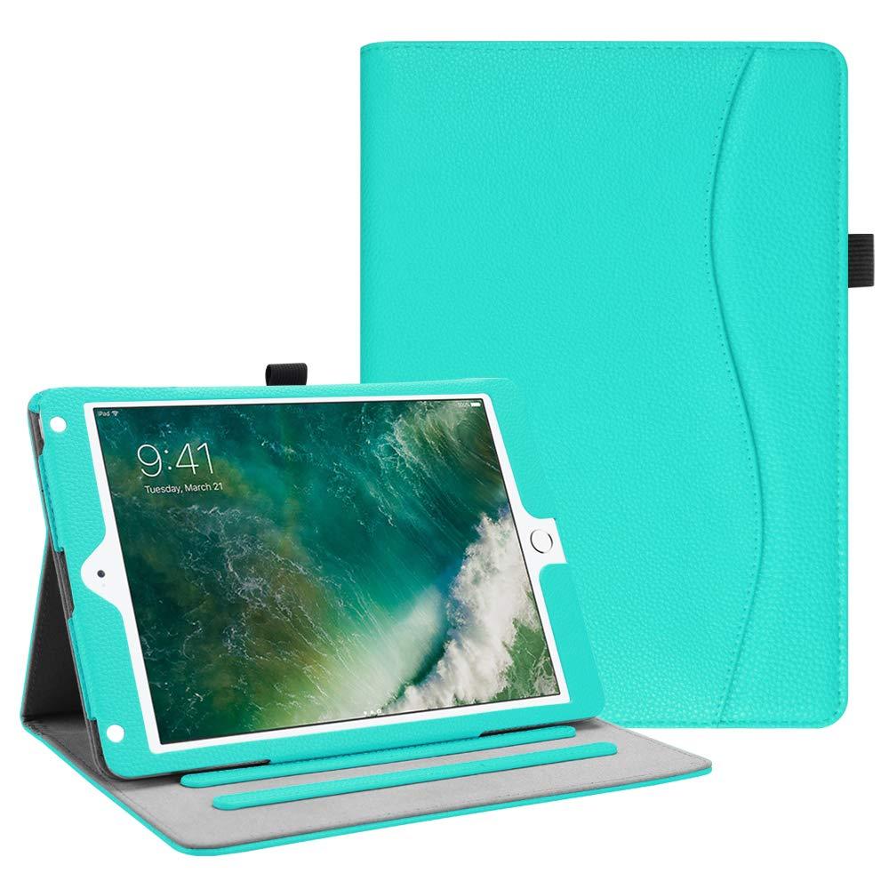 Fintie iPad 9.7 2018 2017 / iPad Air 2 / iPad Air Case - [Corner Protection] Multi-Angle Viewing Folio Cover w/Pocket, Auto Wake/Sleep for Apple iPad 6th / 5th Gen, iPad Air 1/2, Robin Egg Blue