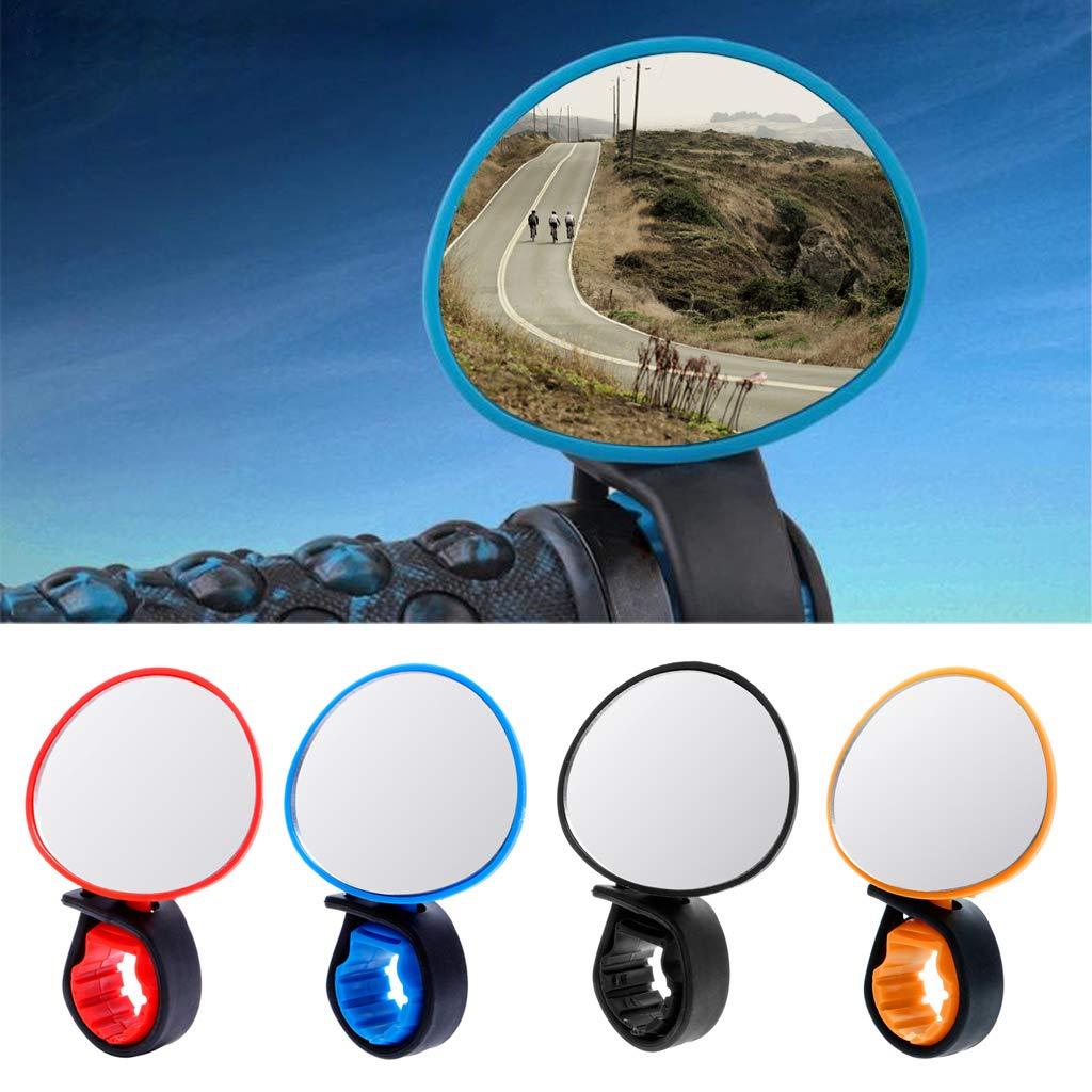 lpyfgtp universale 360/gradi bici specchio grandangolare regolabile ruotare retrovisore manubrio vetro retrovisore bicicletta ciclismo