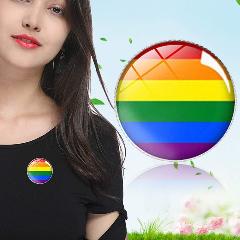 Aisoway Fiert/é Pin LGBTQ Gay Drapeau Arc-en-Broooch Pin Pin D/écoration /émail pour Les V/êtements Et Sacs