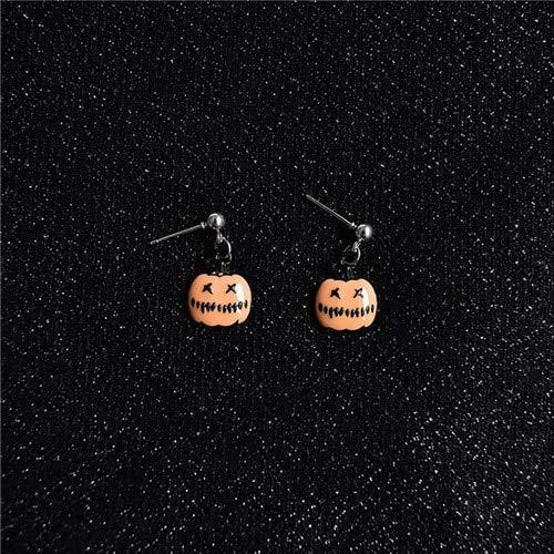 Lindsie-Box - New Arrival Women Pumpkin Lovely Gling Essence Halloween Pearl Stud Earrings For Women Girls Jewelry