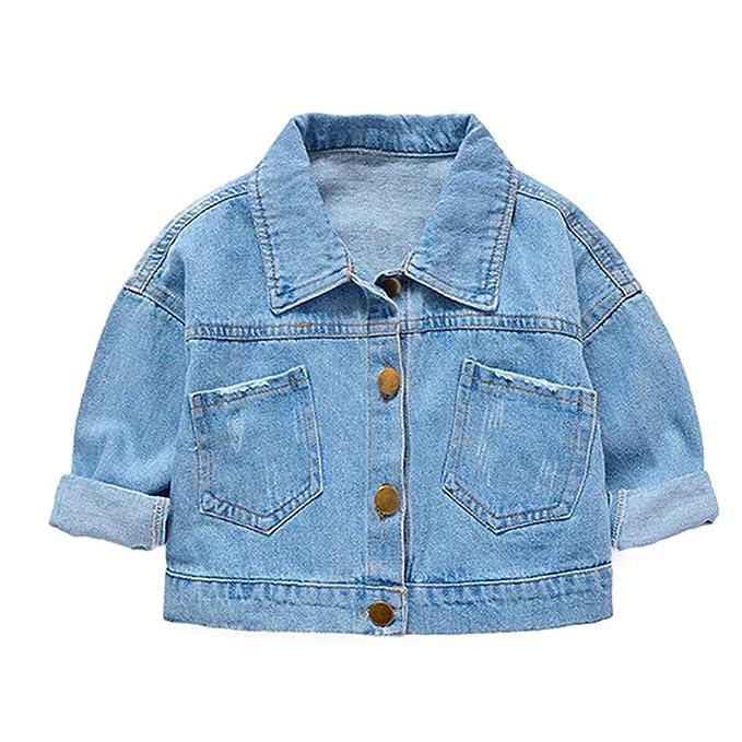 Amazon.com: LJYH - Chaqueta de Demin para bebé, chaqueta de ...