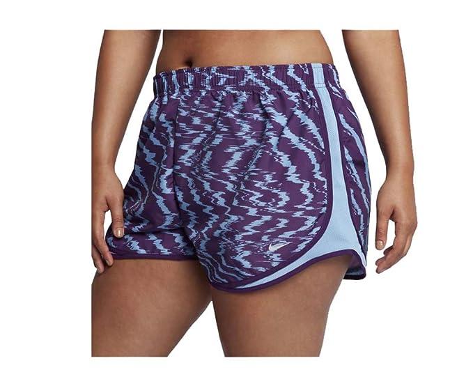best sneakers b1b4e b0a1b NIKE Women s Dri-Fit Tempo Printed Running Shorts-Night Purple-XS