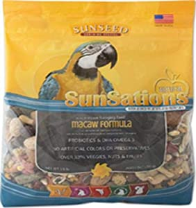 SUNSEED COMPANY 079752 Sunsations Foraging Food for Macaw, 3.5 Pound (36052)