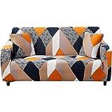 HOTNIU Funda Elástica de Sofá Funda Estampada para sofá Antideslizante Protector Cubierta de Muebles (Tres Plazas…