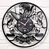 Barber Shop clock vinyl record Hipster Hairdresser Hair Salon Beauty Salon vinyl clock decor art vinyl record clock decorations unique handmade decor laser cut vinyl