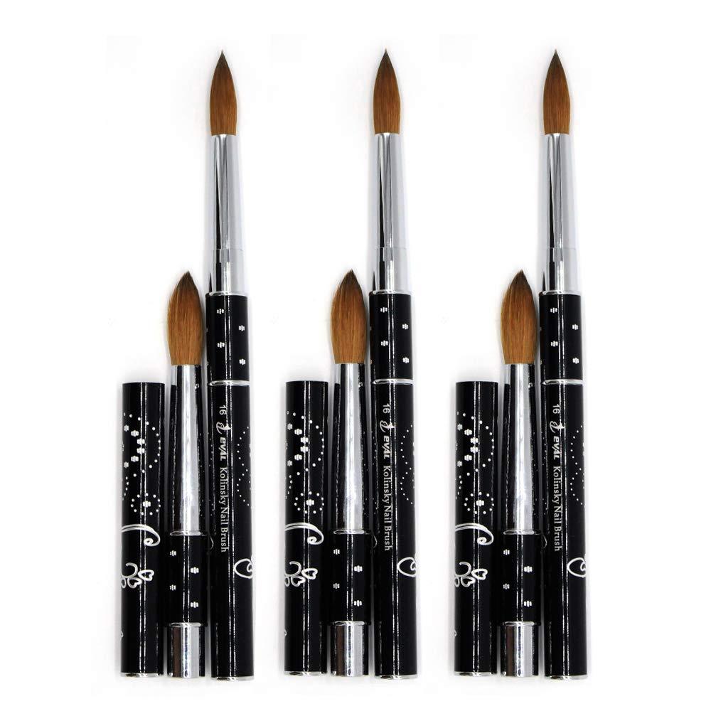 1pc Mitini 100% Kolinsky Sable Brushes Acrylic Nail Brush Professional Nail Art Tool (8) Yihuale Brush Factory