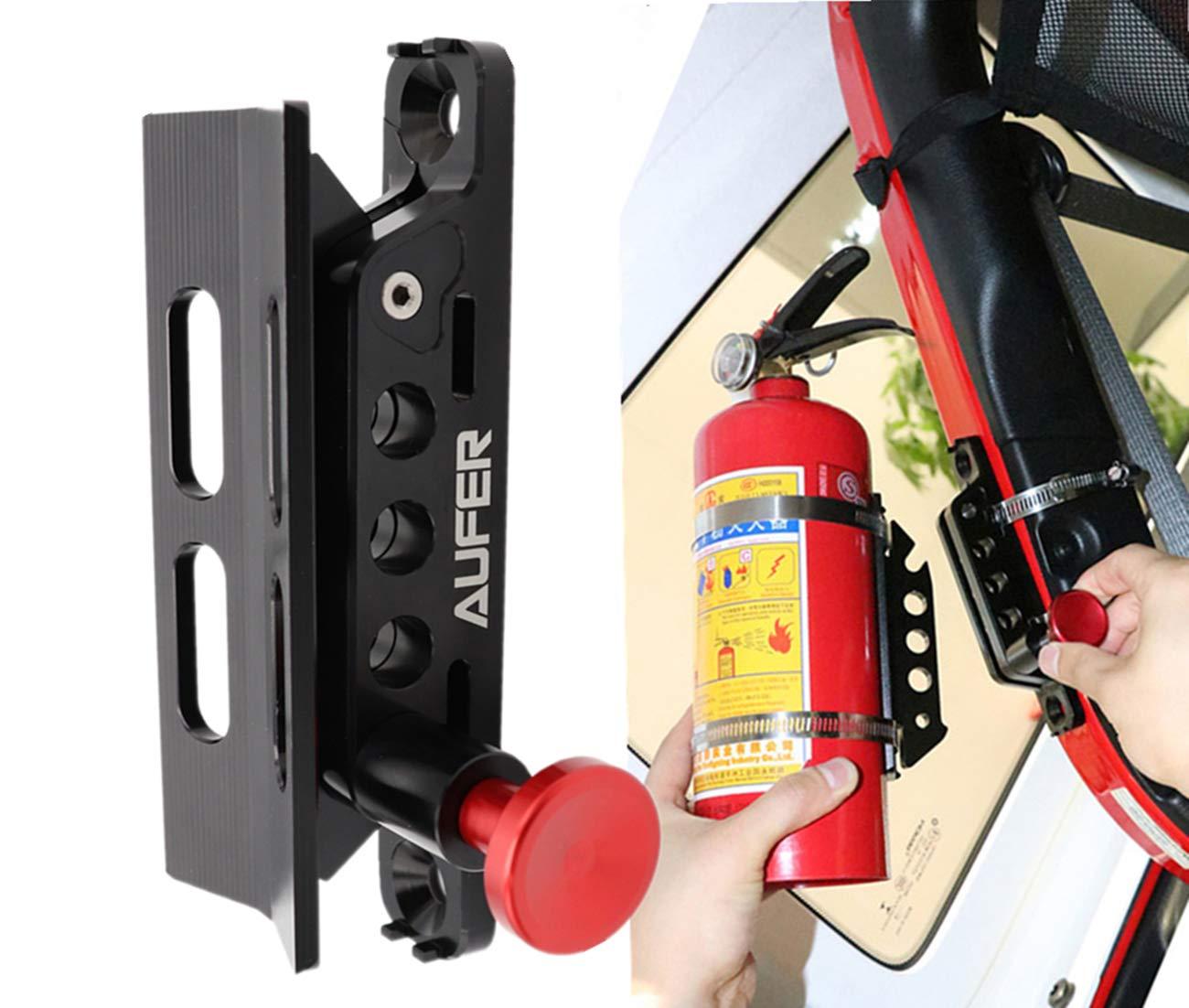 AUFER Universal Adjustable Roll Bar Bottle/Fire Extinguisher Holder Mount,Adjustable, Aluminum by AUFER