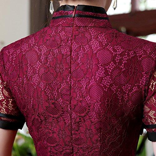 Rouge Robe Bordeaux Acvip Femme Crayon RaPqfc8vw