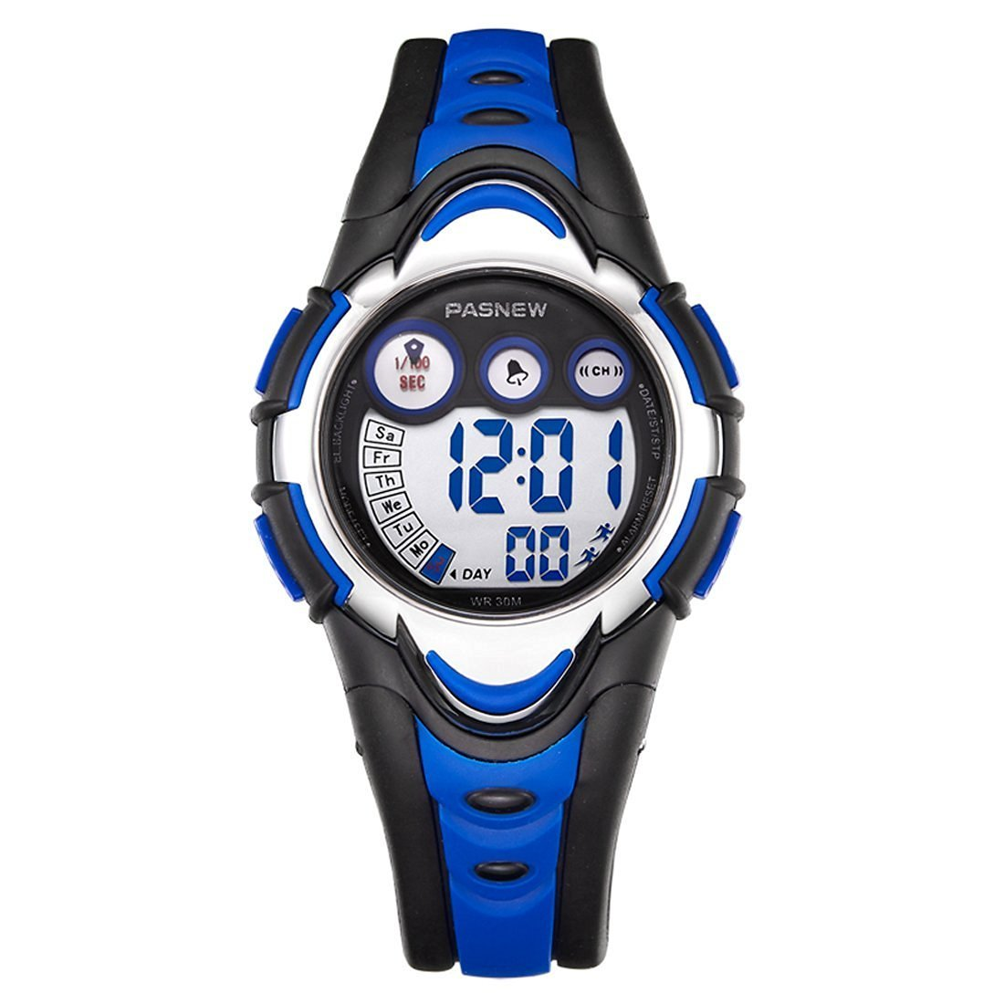 Kids Watches Digital Waterproof Silicone Comfortable Children Toddler Wrist Watches Function Sport Outdoor Electronic Wristwatch Gift for Boys Girls Little Child,Blue