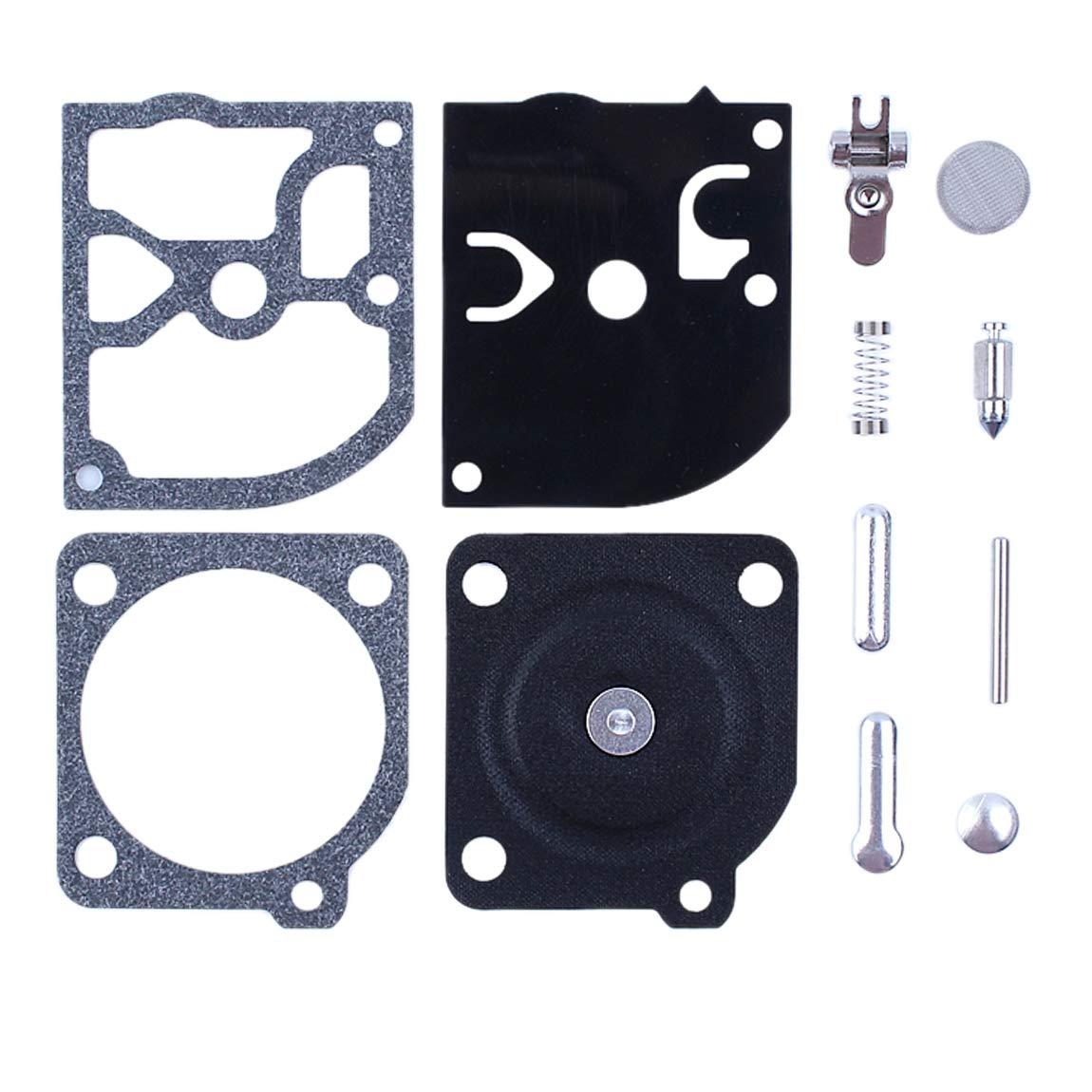 Haishine 2 Pz//Lotto Carb Carburatore Kit di Riparazione per Husqvarna 136 137 141 142 334T 338 XPT Motosega Zama C1Q-EL33 C1Q-EL33A