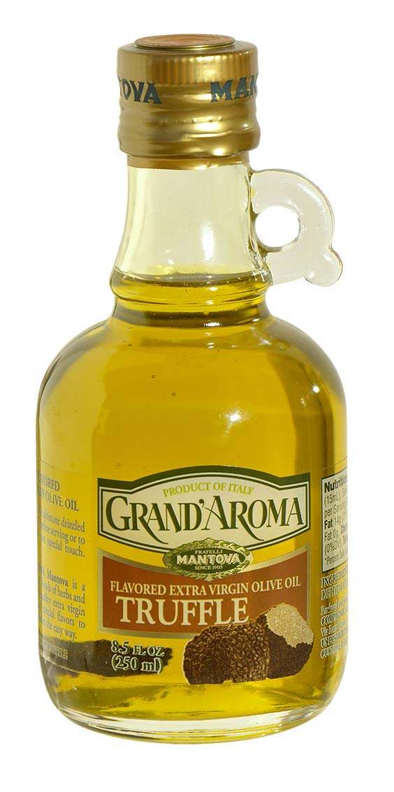 Grand'aroma Truffle Extra Virgin Olive Oil Flavored, 8.5-Ounce Bottles (Pack of 3) by Grand'aroma