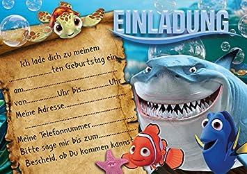 10 Invitaciones Para Cumpleaños Infantiles Finding Nemo